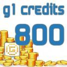 G1 Credits 800